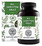 NATURE LOVE® Bio Gerstengras - Hochdosiert mit...